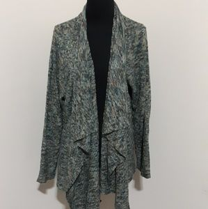 Zozo Green Multicolored Knitted Cardigan Sweater